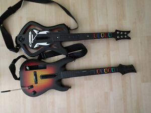 Wii guitars and guitar hero games