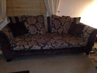 2 large 3-seater sofas