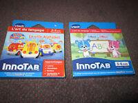 2 VTech Innotab Cartridge Games - Version Française -New, in Box