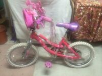Barbie pink - Girl bicycle including training wheels