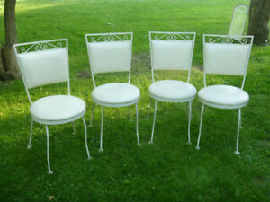 4 wrought iron patio chairs