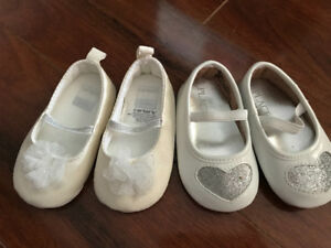 Girl baby Shoes ranging from 3 months to 12 months