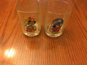 McDonald's 2000 Walt Disney World Celebration Mickey 3 Glass Set