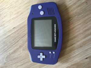Game Boy Advance in indigo with link cable