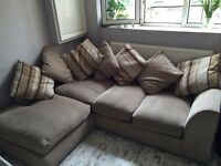 Great condition left hand corner sofa located in Brixton
