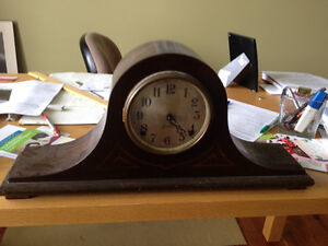"Moving - Antique Clock - 22"" X 10"" High"