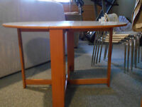 IKEA Folding Dining Table and Stacking Chairs