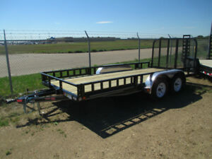 PJ TANDEM UTILITY TRAILER 16' - NEW - 2/3500LB AXLES