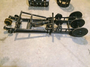 Drag racing suspension, tracks, studs and sprockets for sale