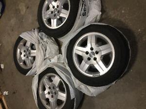 DODGE OEM WHEELS WITH TIRES