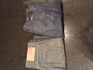 NUDIE JEANS and NAKED & FAMOUS size 33 NEW