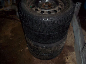 5 bolt civic 16 inch rims and tires