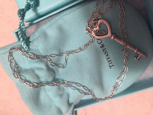 TIFFANY 2 in Heart Key Pendant and Necklace - in Sterling Si