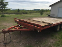 2004 16' tandem flat deck trailer REDUCED