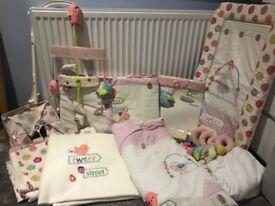 Lollipop lane full girls nursery bedding and room set up