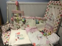 Lollipop lane full girls nursery bedding and room set up