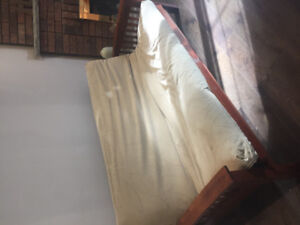 Solid oak futon couch for sale