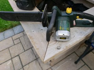 Yard works corded chainsaw