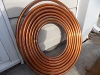 copper pipe, 60 ft. roll of new half inch diameter