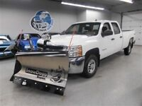 2010 Chevrolet 2500 4X4 CREW CAB V-BLADE PLOW! FINANCING AVAILAB