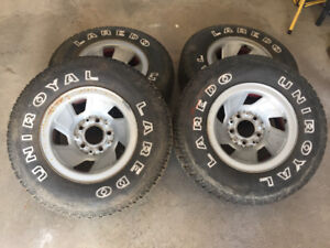 235 75 15 Uniroyal Laredo Tires on 5 Bolt Rims