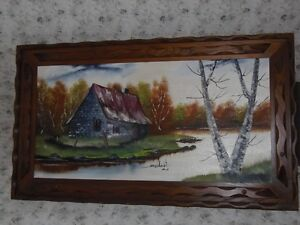VERY LARGE OIL PAINTING PICTURE . West Island Greater Montréal image 1