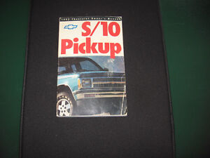 OWNERS MANUAL 1992 CHEV S10 PICK UP TRUCK