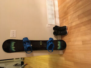 Snowboard, boots and binding package