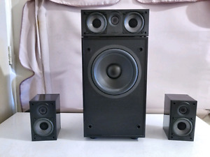 Energy 3.1 Surround system with black metal speaker stand,