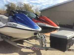 SET OF 2 HONDA AQUATRAX WITH TRAILER Windsor Region Ontario image 1