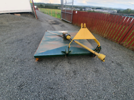 Tractor three point linkage top hall 6ft semi offset grass topper