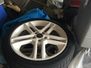 "19"" 5x114 bolt pattern rims with Bridgestone tirea"