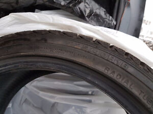 2 Winter Tires 225/40R18 For Sale West Island Greater Montréal image 2