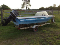15' Peterborough Run-a-bout/motor and trailer