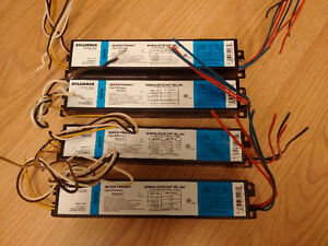 LOT OF 4!! Sylvania QHE4x32T8/347 ISL-SC, Quicktronic 347 Volt,