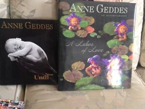 2 Anne Geddes books with stuffed baby bear