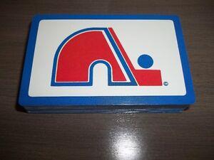 JEU DE CARTES DES NORDIQUES DE QUÉBEC NEUF HOCKEY NHL LNH