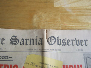 Heading to the Moon. 1969 NEWSPAPER. LAST CHANCE!! Cambridge Kitchener Area image 2
