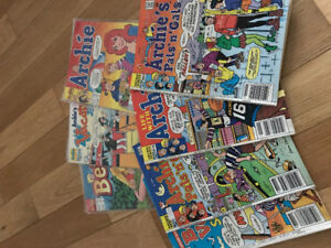 Vintage rare Archie comics, few kept well in packaging