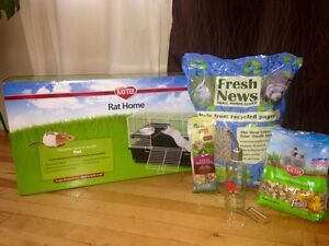 Rat or Rodent Cage Plus Food and Litter for Sale