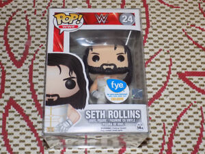 FUNKO, POP, SETH ROLLINS WHITE OUTFIT, FYE EXCLUSIVE WWE #24, NM