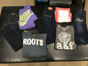 Girls Jeans and sweaters- size 10