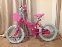 "Girls 16"" Barbie Bike Good Condition."