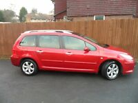 Peugeot 307 sw1.6 HDi XSi 5dr Estate Diesel 2006 7 seater