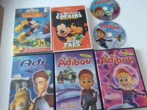 Lot 8 DVD Adi Adibou terre maison film scooby mickey