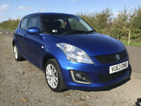 2013 63 SUZUKI SWIFT 1.2 4X4 SZ3 5 DOOR HATCHBACK BLUE