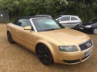 2005 Audi A4 Cabriolet 1.8T Sport petrol manual in gold