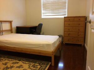 One furnished bedroom in Burlington townhome for rent