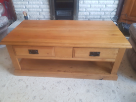 Solid oak coffee table ---SOLD