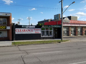 Portage Avenue store front for sale or lease in Westwood